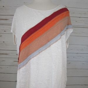 Free-People-Womens-rainbow-Thien-Tee-Sz-XS-NEW-98